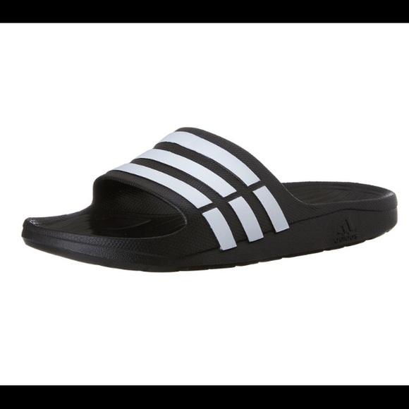 d2171c2ed20a adidas Other - Adidas Black White Duramo Youth Boys Slides 4